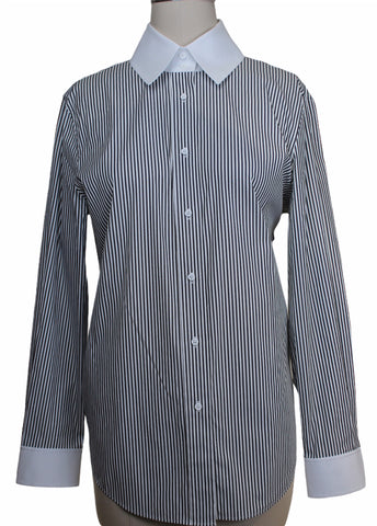 Lafayette 148 Striped Blouse (Pick Up In Store Only)