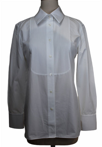 Lafayette 148 Pleated Front Blouse (Pick Up In Store Only)