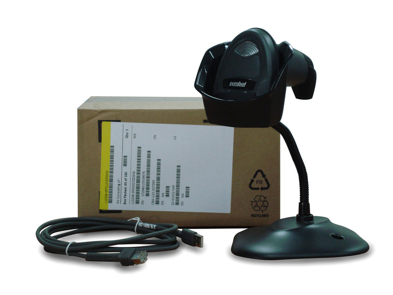 Zebra DS2208 2D USB(Corded) Barcode Scanner(Imager) Kit