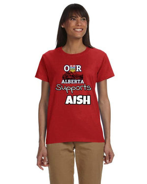 Our Alberta Supports AISH Ladies Tee