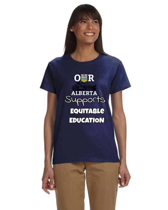 Our Alberta Supports Equitable Education Ladies Tee