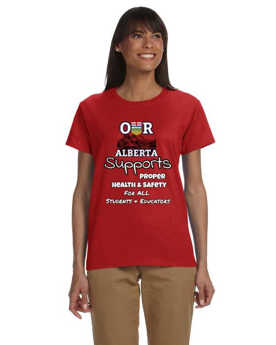Our Alberta Supports Student PPE Ladies Tee