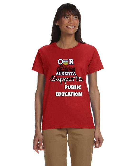 Our Alberta Supports Public Ed Ladies Tee