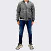 Men's Tribal Society Reversible Jacket - Black/Grey