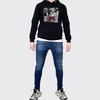 Men's Tribal Society Light Weight Kamikaze Tiger Hoodie - Black