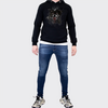 Men's Tribal Society Lightweight Lone Wolf Hoodie - Black