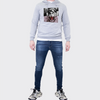 Men's Tribal Society Light Weight Kamikaze Tiger Hoodie - Grey