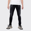 Men's Tribal Society Limited Edition Distressed Paint Splash Jeans - Black