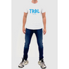 TRBL Glitch Premium T Shirt - White