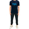 TRBL Glitch Premium T Shirt - Navy