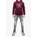 Men's Tribal Society TRBL TRBL TRBL Lightweight Hoodie - Burgundy