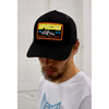 Men's Tribal Society Trucker Apache Cap - Black/Orange