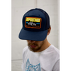 Men's Tribal Society Trucker Apache Cap - Navy/Orange