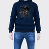 Men's Tribal Society Lone Wolf Fleece Lined Hoodie - Navy