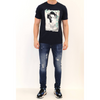 Geisha Mercerised T Shirt - Navy