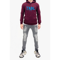 Men's Tribal Society TRBL Glitch Lightweight Hoodie - Burgundy