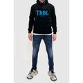 TRBL Glitch Fleece Lined Hoodie - Black