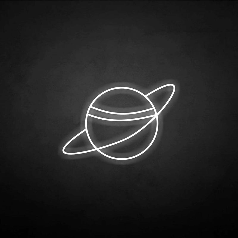 'planet' neon sign