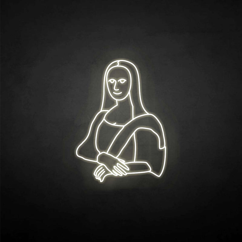 'Lisa's smile' neon sign
