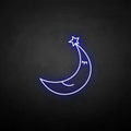 'To the moon' neon sign