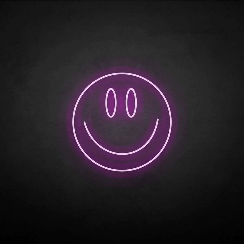 'SMILE' neon sign