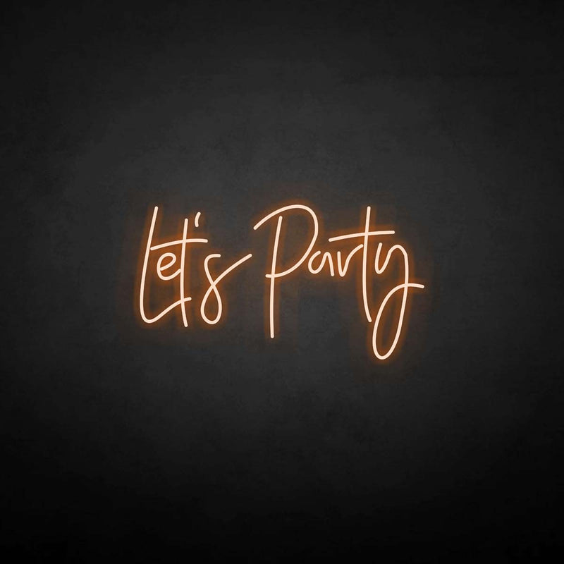 'Let's Party' neon sign