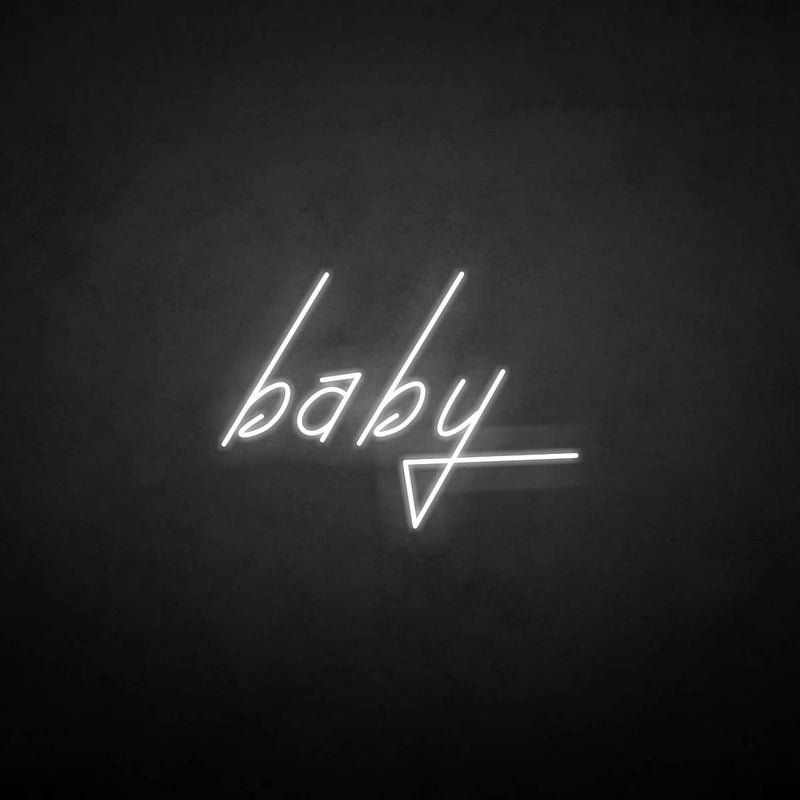 'Baby' neon sign
