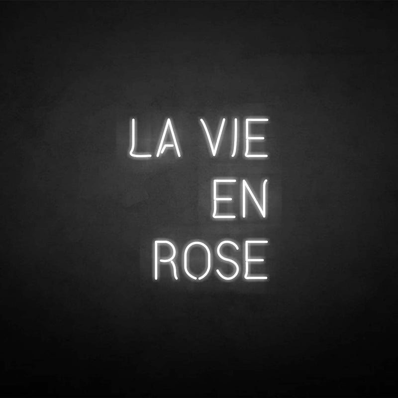 'LA VIE EN ROSE' neon sign