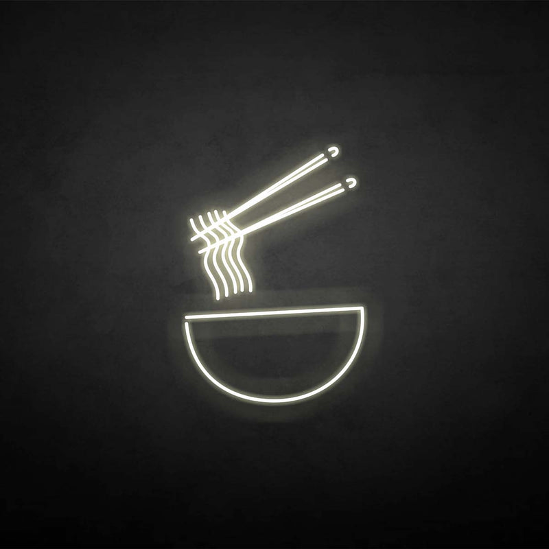 'Noodles' neon sign