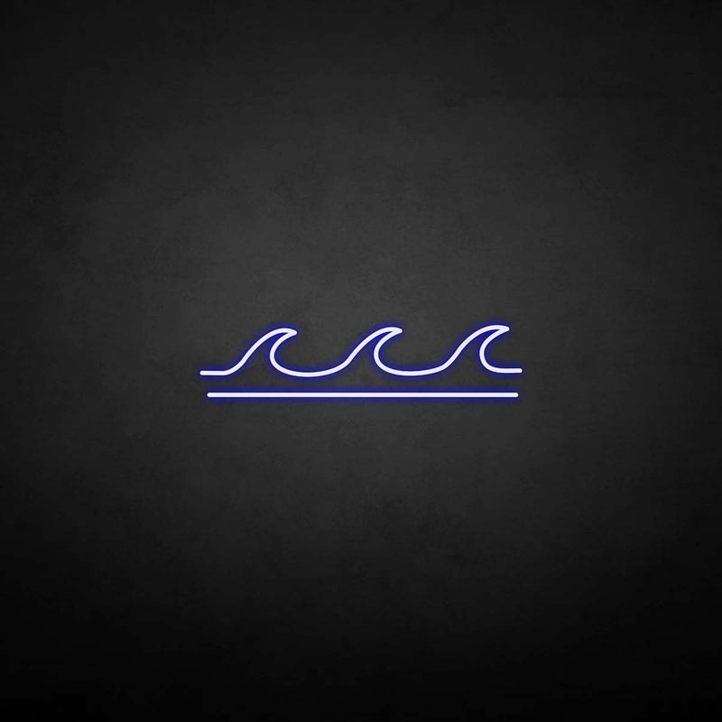 'Sea wave' neon sign