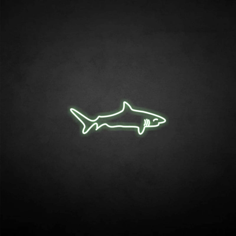 'Shark shape' neon sign