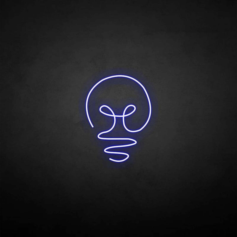 'Light bulb' neon sign