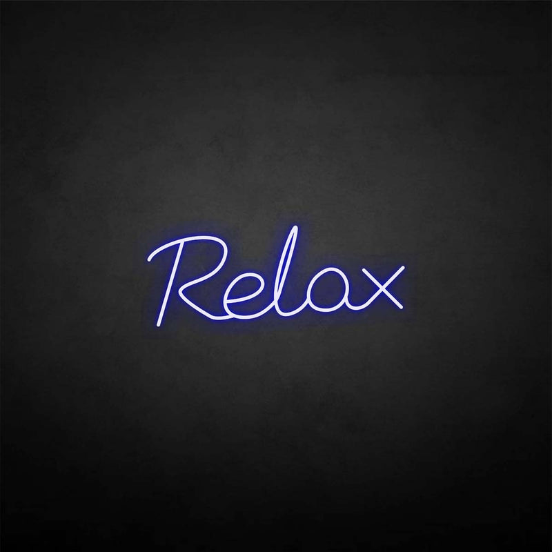 'Relax' neon sign