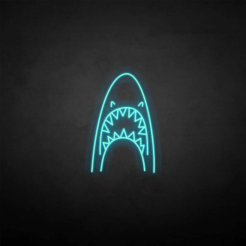 'Shark head' neon sign