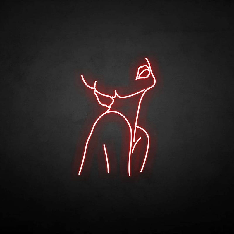 'Woman pose' neon sign