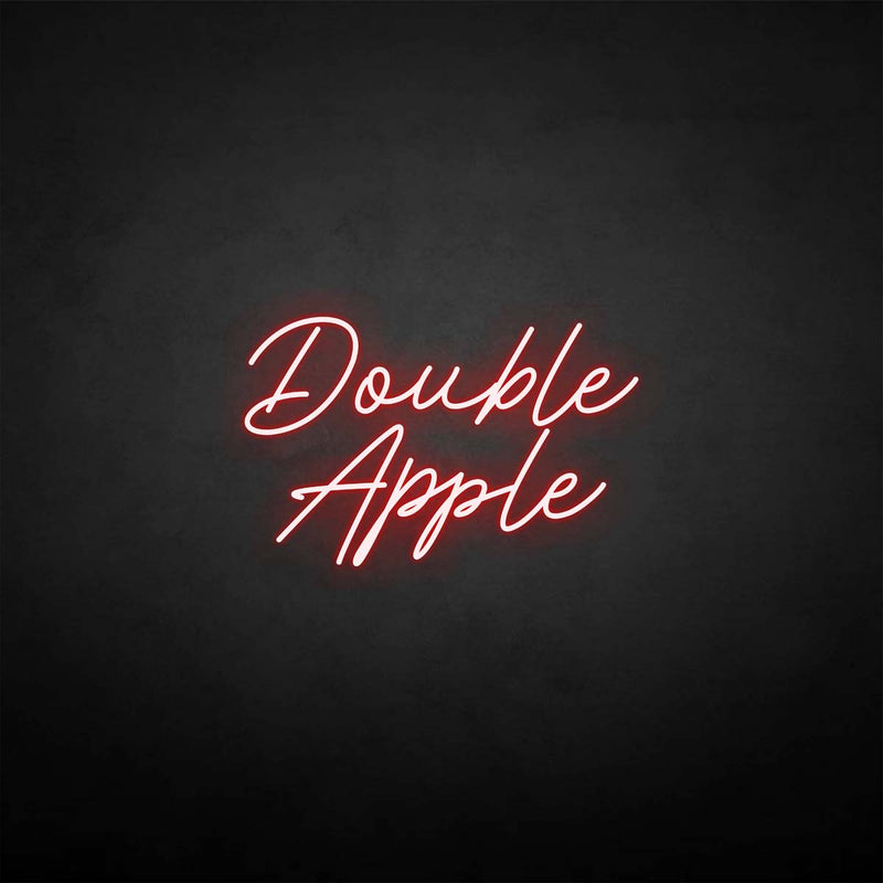 'Double apple' neon sign