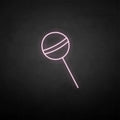 'Lollipop' neon sign
