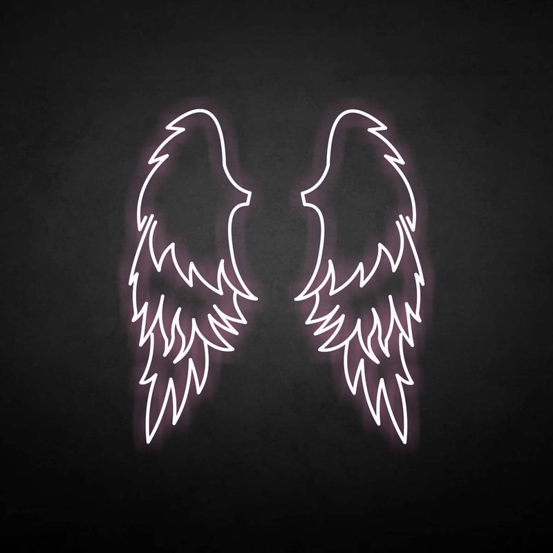 'wings' neon sign