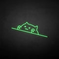 'happy cat' neon sign