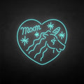 'Unicorn with heart' neon sign