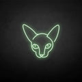 'Sphinx cat' neon sign