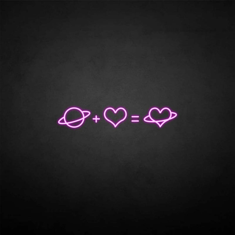 'Love equation' neon sign