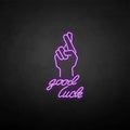 'Good-lucky' neon sign