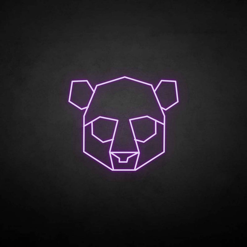 'The bear head' neon sign