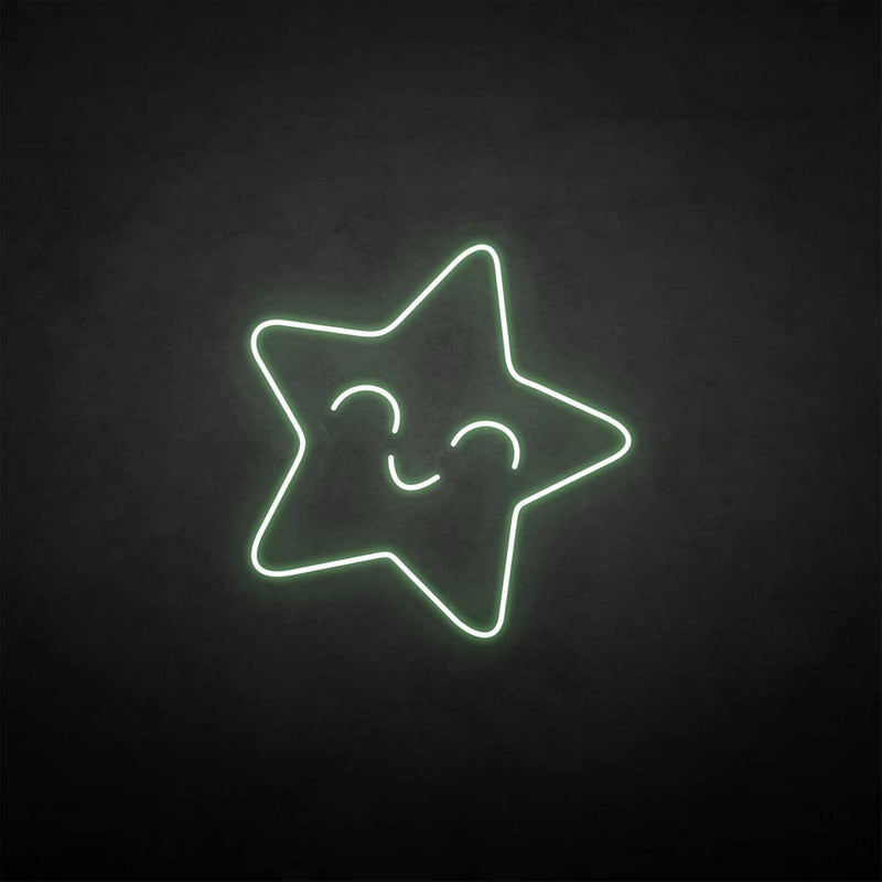 'Smile a star' neon sign