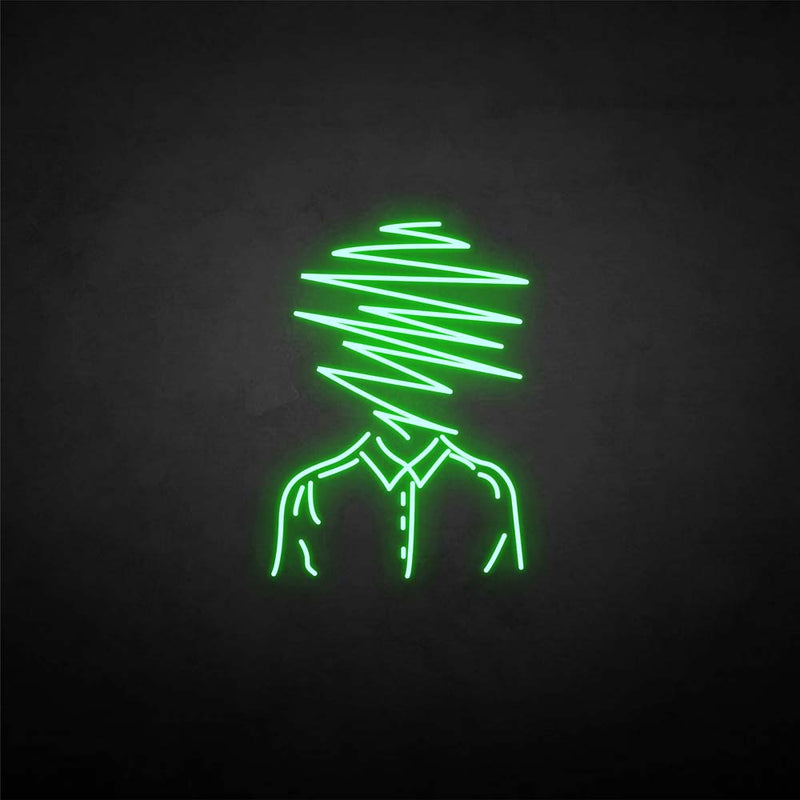 'Line people' neon sign