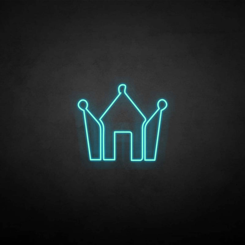 'Crown with diamond' neon sign