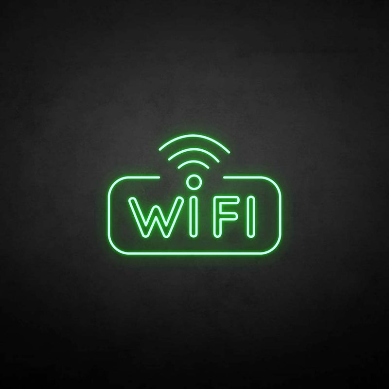 'WIFI 2' neon sign