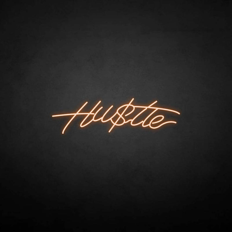 'Hustle2' neon sign