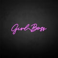 'Girl boss' neon sign